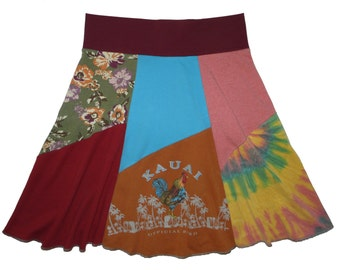 Hawaii Women's Large XL Upcycled Skirt recycled t-shirt clothing from Twinkle