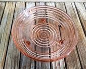 Depression Era Pink Glass Dish Art Deco Ringwear
