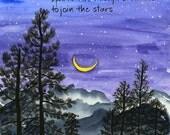 02-112. night sky art print