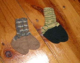 "Wool Baby Socks - 3"" Foot - Your Choice"