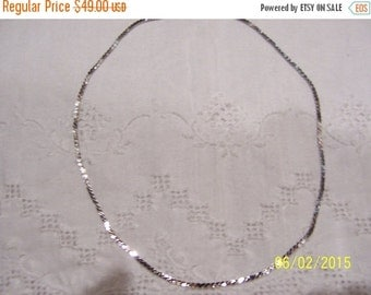 CLEARANCE SALE Vintage S Link chain necklace. Sterling silver.