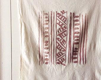 Mai Natural Towel. Housewarming Gift. Tea Towel. Hand Printed Towel. Face Towel. Gifts Under 25. Earth Friendly Table Linens. Yoga Towel.