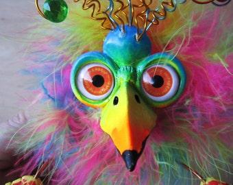 Whimsical bird-bird sculpture-bird art-funny bird art