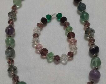 Multi-Colored Green Necklace