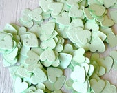 SALE - Mint Green Heart Wildflower Seed Paper Confetti, Wedding Favor