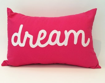 "18""X12"" Dream Text Pillow Cover"