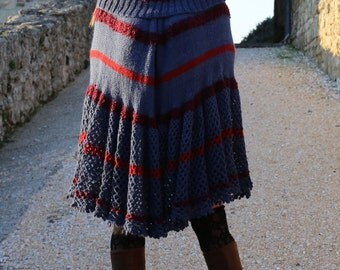 Malta Wave Poncho in 3 colors, 100% Baby Alpaca, Wool and mohair