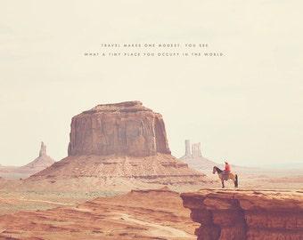 Cowboy Art, Cowboy Art Print, Monument Valley, Monument Valley Print, Utah Art, Utah Print, Desert Art, Desert Print, Navajo Tribal Park