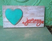 Journey Pallet Board Sign, Rustic Heart Home Decor Signs, Gallery Wall Accent Sign