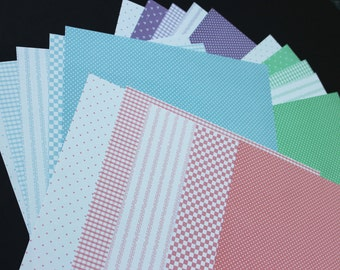 SALE  Backgrnd  Paper Sheets Listing #1  of assorted colors patterns 20 sheets in each package Total of 9 packagesleft Priced for 2 packages