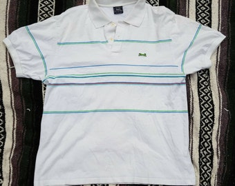 Vintage 1980's Preppy Hipster Le Tigre Polo Shirt, Size L