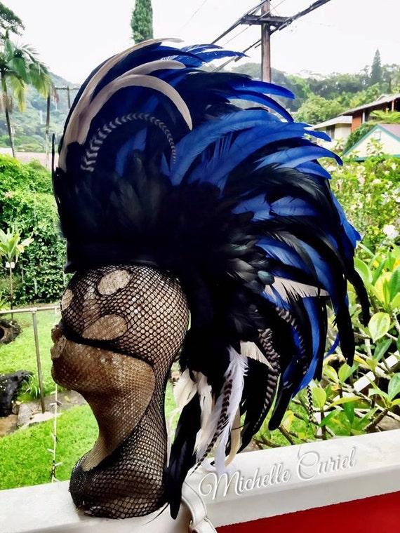 Avante Garde v2  - Customizable Feather Mohawk / Headdress