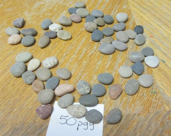 50 Hand Select Hand Sorted Mosaic Craft Stones Lake Michigan Stone Craft Supplies