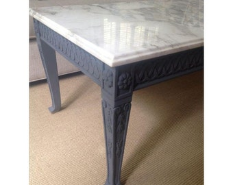 Coffee Table with Marble Top, French Style