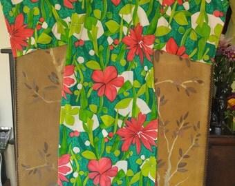 70s maxi Polynesian dress by Alice