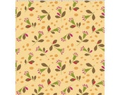 Small Flowers on Butter Yellow from Clothworks Fabric's Seedhead Collection by Cary Phillips
