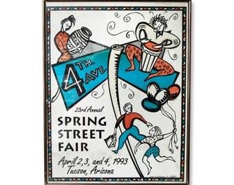 Vintage signed street fair poster