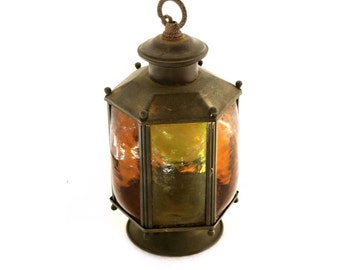 Stained glass lantern light