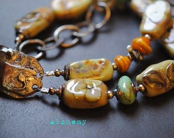 Alchemy  ~Artisan made jewelry Nature inspired Forged fabricated hook clasp