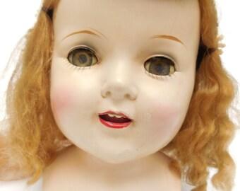 Vintage Spooky Bride Doll Head Halloween Decor