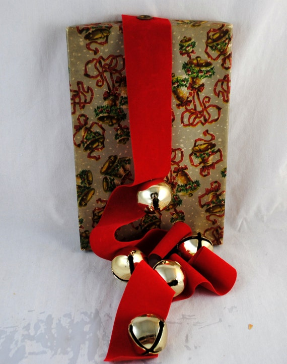 Items similar to Vintage Jingle Bells , Large Gold Colored ...