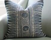 Lee Jofa Indian Zig Zag Pillow Cover Indigo