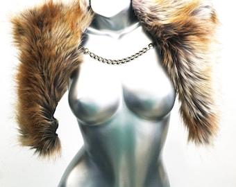 Faux Fur Scarf - Faux Fur wrap - Foxette