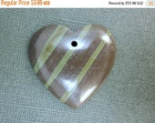 15% Valentines Day Green Zebra Jasper Pendants-  Green Zebra Jasper Cabochon Heart Stone (JP-10)