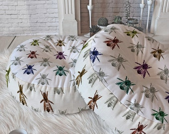 Floor Pillow Bee color palette