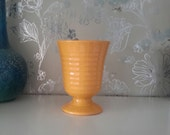 RARE Vintage Bauer Pottery 1930s Yellow Ringware Goblet