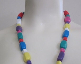 Candy Jewelry / Candy Necklace / 80s Jewelry / Colorful / Colorful Necklace / Multicolor Necklace / Plastic Beads / Multicolored