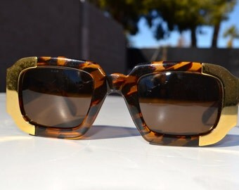 Vintage Gianfranco Ferre sunglasses made in Italy travel weekender