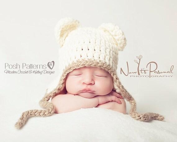 Crochet PATTERNS - Baby Crochet Pattern - Crochet Bear Hat - Crochet Hat Pattern - Includes Newborn, Baby, Toddler, Child Sizes - PDF 186