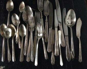 Vintage Silverware • vintage silver plate silverware