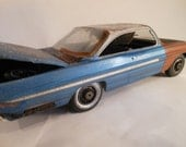Scale Model Pontiac Car Classicwrecks Rusted Wreck