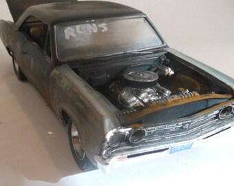 Scale Model Rusted Wreck Chevy Car by Classicwrecks