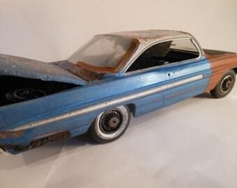 Scale Model, Pontiac Car, Classicwrecks ,Rusted Wreck,Model Hobby