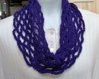 Lacy Cowl Scarf Purple  B 13