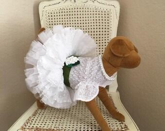 Southern Charm Dog Dress, Green