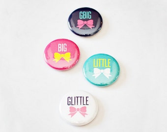 """Sorority Family Line 1"""" Buttons"""