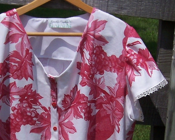 Women S Shirt Upcycled Vintage Tablecloth Plus Size