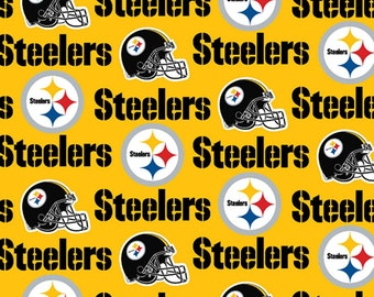 NFL Pittsburgh Steelers Cotton V2 Fabric by the yard