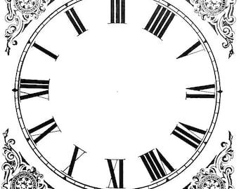 20 Paper Clock Faces, Vintage Ephemera, Craft Supply