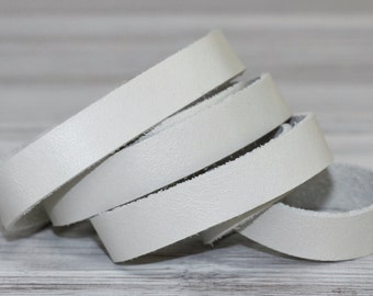 15 mm Beige  Genuine Leather Strap, 1 Yard