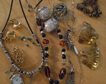 Vintage Jewelry / Up cycle /  Lot 1