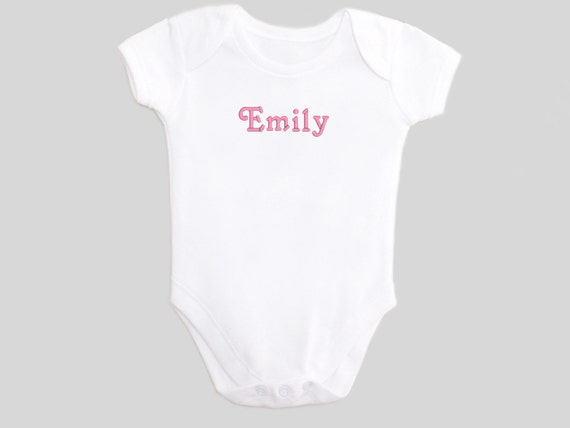 Baby personalized gifts - embroidered - baby gifts - Custom Name