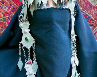 WINTER SALE Vintage Afghan Turkmen Headpiece Headdress HP7 Gypsy Tribal Belly Dance Uber Kuchi®