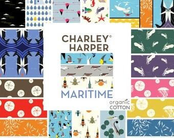 Birch Fabrics Organic  Charley Harper Maritime Fabric Bundles - 19 Pc
