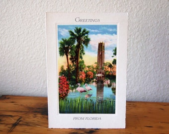 Vintage Bok Singing Tower Greeting Card Vintage Greetings From Florida Bok Tower Greeting Card Printed In Saxony from The Eclectic Interior