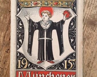 Munich Calendar 1915 Otto Hupp Heraldic Crest Coat of Arms